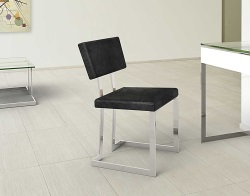 CHAIR CONDUCTION BLACK CHROMED STEEL 56x50x83 CM (CH010B1)
