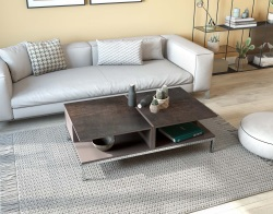 COFFEE TABLE ARIZONA STEEL CERAMICS MDF LACQUERED 120X70X40 CM (CT255SD)