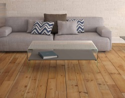 COFFEE TABLE ATENA UK LACQUERED GREY HOT BENT GLASS 113X66X40 CM (CT068LG)