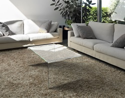 COFFEE TABLE ATENA CRYSTAL HOT BENT GLASS 110X60X40 CM (CT071R)