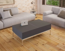COFFEE TABLE NEVADA GREY CERAMICS MDF LACQUERED 120X70X40 CM (CT250CG)