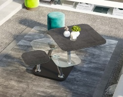 COFFEE TABLE QUATTRO TITANIUM CERAMICS 80x80x45 CM (CT294TI)