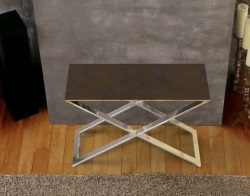 CONSOLE TABLE ALEXA STEEL CERAMICS POLISHED STAINLESS STEEL 100x38x72 CM (ST017SD)