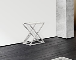 CONSOLE TABLE AMARA CLEAR POLISHED STAINLESS STEEL 62x40x70 CM (ST007C)