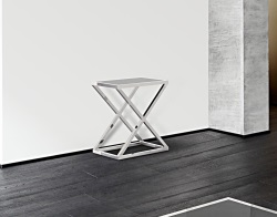 CONSOLE TABLE AMARA LACQUERED BLACK POLISHED STAINLESS STEEL 62x40x70 CM (ST007LB)