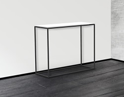 CONSOLE TABLE JULIA WHITE LACQUERED BLACK EPOXY PAINTED STEEL 100x38x80 CM (ST180LW)