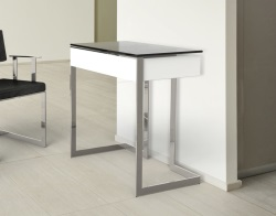 DESK CONDUCTION TINTED GREY POLISHED STAINLESS STEEL 70x45x77 CM (BU011G)
