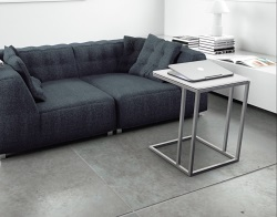 SIDE TABLE ALICIA WHITE ACID ETCHED BRUSHED STAINLESS STEEL 50x50x66 CM (ET061LWA)