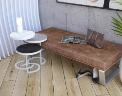 SIDE TABLE FLORIDA STEEL CERAMICS LACQUERED STEEL 40X40X55 CM (ET222SD)