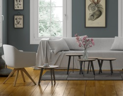SIDE TABLE TOSCA TAUPE CERAMIC LACQUERED STEEL 44 x 44 x 46 CM (ET201CT)