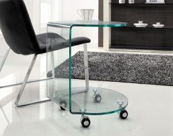 SIDE TABLE TULSA CLEAR HOT BENT GLASS 50x50x58 CM (ET010)