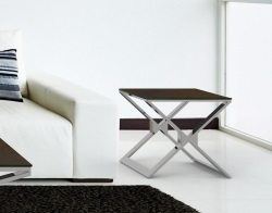 SIDE TABLE XENA STEEL CERAMICS POLISHED STAINLESS STEEL 50x50x48 CM (ET030SD)