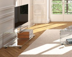 TV SET EMMA CRYSTAL HOT BENT GLASS 120x50x42 CM (TV003R)