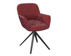 CHAIR CHARLESTON ASSISE PIVOTANTE RED FABRIC AND POLYURETHANE L59,5XP56XH83-46 CM (CH097RO)
