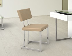 CHAIR CONDUCTION TAUPE CHROMED STEEL 56x50x83 CM (CH010T)