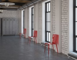 CHAIR MADISON RED POLYCARBONATE L46xP53xH87 CM (CH030RO)