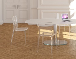 CHAIR MADISON TRANSPARENT POLYCARBONATE L46xP53xH87 CM (CH030TR)