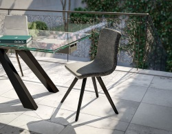 CHAISE OSAKA ANTHRACITE TISSUS POLYESTER L49xP56xH83,5 CM (CH051G3)