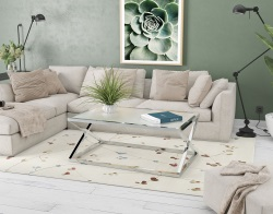 COFFEE TABLE ADORA CRYSTAL ACID ETCHED POLISHED STAINLESS STEEL 116x71x45 CM (CT096RA)