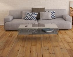 COFFEE TABLE ATENA ETAGERE LACQUERED GREY HOT BENT GLASS 113X66X40 CM (CT070LG)
