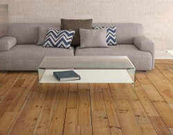 COFFEE TABLE ATENA ETAGERE WHITE ACID ETCHED HOT BENT GLASS 113X66X40 CM (CT070LWA)
