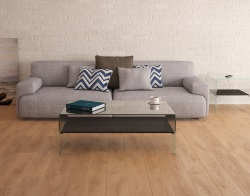 COFFEE TABLE ATENA UK LACQUERED BLACK HOT BENT GLASS 113X66X40 CM (CT068LB)