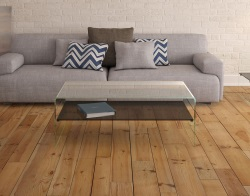 COFFEE TABLE ATENA UK TINTED GREY HOT BENT GLASS 113X66X40 CM (CT068G)