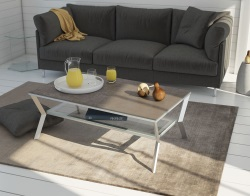 COFFEE TABLE DELTA ARGILE CERAMICS BRUSHED STAINLESS STEEL 110x65x40 CM (CT101AR_C)