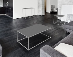COFFEE TABLE JULIA GREY CERAMICS BRUSHED STAINLESS STEEL 110x65x40 CM (CT182CG)
