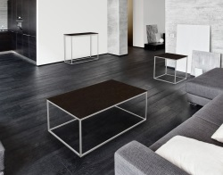 COFFEE TABLE JULIA STEEL CERAMICS BRUSHED STAINLESS STEEL 110x65x40 CM (CT182SD)