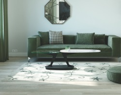 COFFEE TABLE OSIRIS MAT MARBLE CERAMICS BLACK EPOXY PAINTED STEEL 95(163)x59x42 CM (CT142MA)