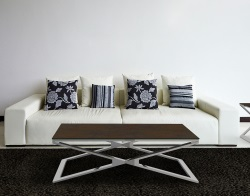 COFFEE TABLE OXANA STEEL CERAMICS POLISHED STAINLESS STEEL 110x65x34 CM (CT108SD)