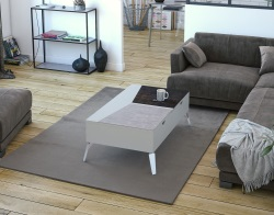 COFFEE TABLE PORTLAND PEARL GREY CERAMIC 110x65X38(61,5) (CT259LC)
