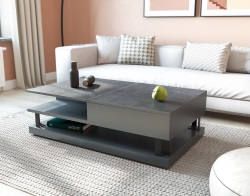 COFFEE TABLE VARIUM TITANIUM CERAMICS MDF LACQUERED 120x70x38 CM (CT267TI)