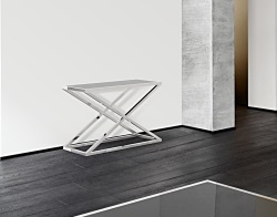 CONSOLE TABLE AMARA LACQUERED BLACK POLISHED STAINLESS STEEL 106x44x70 CM (ST016LB)