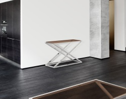 CONSOLE TABLE AMARA SEPIA POLISHED STAINLESS STEEL 106x44x70 CM (ST016P)