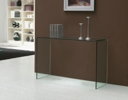 CONSOLE TABLE AURORA CLEAR HOT BENT GLASS 120x40x75 CM (ST006)