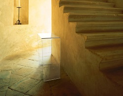 CONSOLE TABLE AURORA CRYSTAL HOT BENT GLASS 70X30x75 CM (ST004R)