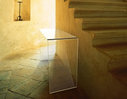 CONSOLE TABLE AURORA CRYSTAL HOT BENT GLASS 120x40x75 CM (ST006R)