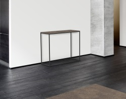 CONSOLE TABLE JULIA ARGILE CERAMICS BLACK EPOXY PAINTED STEEL 100x38x80 CM (ST180AR)