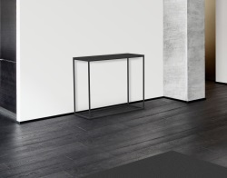 CONSOLE TABLE JULIA GREY CERAMICS BLACK EPOXY PAINTED STEEL 100x38x80 CM (ST180CG)