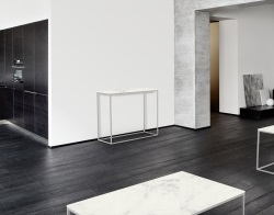CONSOLE TABLE JULIA MARBLE CERAMICS BRUSHED STAINLESS STEEL 100x38x80 CM (ST182CM)