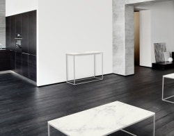 CONSOLE TABLE JULIA MAT MARBLE CERAMICS BRUSHED STAINLESS STEEL 100x38x80 CM (ST182MA)