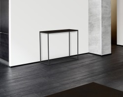 CONSOLE TABLE JULIA STEEL CERAMICS BLACK EPOXY PAINTED STEEL 100x38x80 CM (ST180SD)