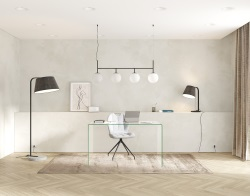 DESK AURORA CLEAR HOT BENT GLASS 130x80x75 CM (BU070)