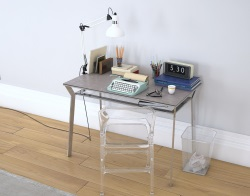 DESK DELTA ARGILE CERAMICS POLISHED STAINLESS STEEL 110X65X75 CM (BU040AR_C)