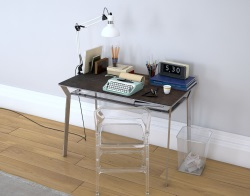 DESK DELTA STEEL CERAMICS POLISHED STAINLESS STEEL 110X65X75 CM (BU040SD_C)