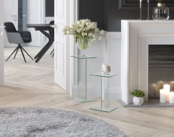 NEST OF TABLES TRIVIA CLEAR 25 x 25 x 41 CM (NT620C)