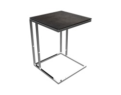SIDE TABLE ALICIA STEEL CERAMICS POLISHED STAINLESS STEEL 50x50x66 CM (ET060SD)