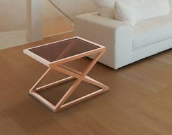 SIDE TABLE ARUNA SEPIA STAINLESS STEEL 56x56x47 CM (ET098P)